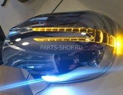 Корпуса на зеркала LC120 дизайн Mercedes SL-Class с диодными повторителями поворотов и подсветкой снизу (хром)