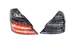Фонари Mercedes W221 рестайлинговые 63 AMG, дымчатые