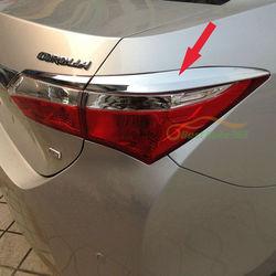 Хром накладки на задние фонари Corolla 2013-