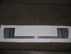Решетка в передний бампер lc120 нерж.