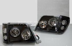"""Оптика передняя """"Ангельские глазки"""" с поворотниками Toyota Prado 90"""