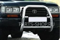 Тюнинг Toyota Land Cruiser 80 кенгурятник из нержав. (под штатную лебедку)