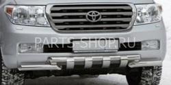 Защита переднего бампера двойная с перемычками LC 200 2012-