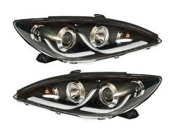 Фары линзовые с ходовыми огнями camry30/35 стиль Audi