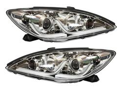 Фары линзовые с ходовыми огнями camry 2001-2006 стиль Audi