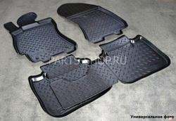 Коврики салона полиуретановые для Hyundai Solaris (серые, черные, бежевые)