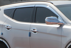 Ветровики хром на Hyundai Santa FE (6 частей)