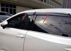 Ветровики на окна с хром молдингом rx 2016