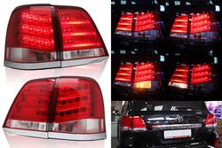 Фонари задние светодиодные LC200 стиль LX570 2013- (комплект)