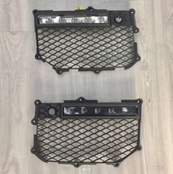 Вставки решетки бампера w463 с ходовыми огнями