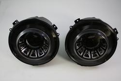 Фары mercedes w463 с ходовыми огнями, черные