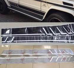 Наклейка на кузов Mercedes W463, G65, G63 черная или хром