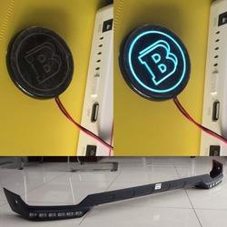 Логотип brabus светящийся для клыков или губы переднего бампера