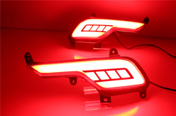 Задние диодные катафоты Hyundai Santa FE 2016-