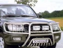 Защита передняя на LX470 расшир. нержавейка-полиров.