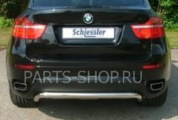 Защита заднего бампера на BMW